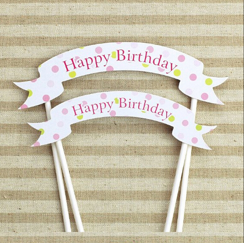 Cake Toppers For Baby Birthday : Aliexpress.com : Buy 1pcs handmade happy birthday cupcake ...