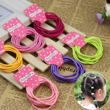 10 pcs/lot Cheap 2015 korean Fashion Cute Kids Elastic Hair Rope Ponytail Holder Band Ties Girls Hair Accessories free shipp lif