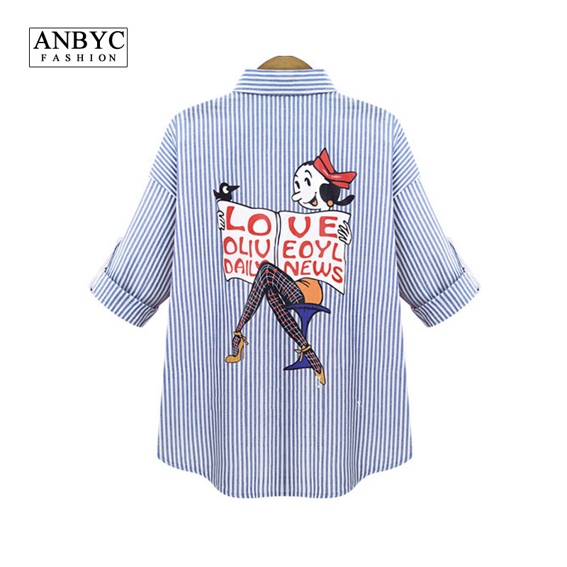 ANBYC Plus size Women/Men blouses and shirts brand 2015 Fashion cartoon Simpson long sleeve Vintage denim blouse shirt models(China (Mainland))