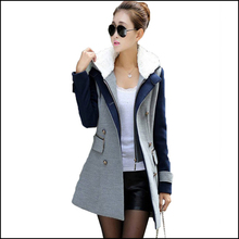 Winter Coat  Women Plus Size Double Breasted Wool Slim Women Coat 2015 New Arrival Fashion Hoodies Sexy Wool Blends SP6821(China (Mainland))
