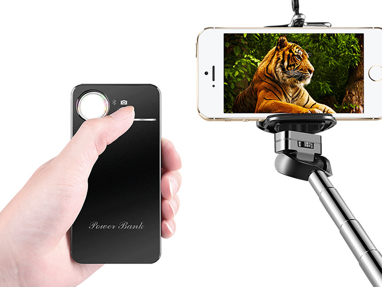 Selfie Stick Extendable Self Portrait Handheld Monopod with Portable Power Bank Charger Bluetooth Remote Shutter for IOS Android(China (Mainland))