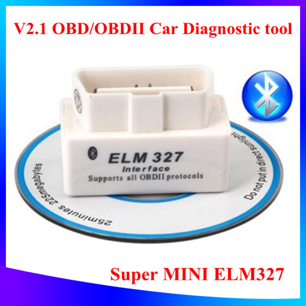 2015 Newest Super Mini ELM327 Bluetooth OBD2 V2.1 White Diagnostic Interface ELM 327 Wireless Scan Tool Support All OBD2 Model(China (Mainland))