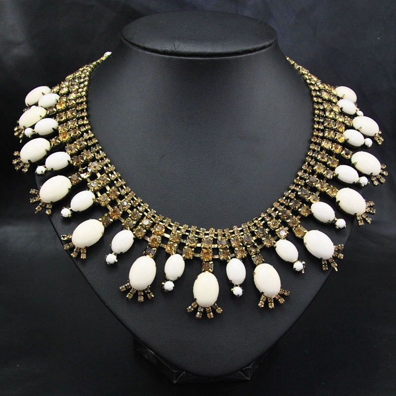 Wholesale New 2014 Brand jewelry Fashion Party Accessories Unique Wedding Necklace& Pendants Statement Chocker Necklace(China (Mainland))