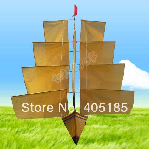 Outdoor Fun Sports NEW Golden Sail Boat Power Kite(China (Mainland))