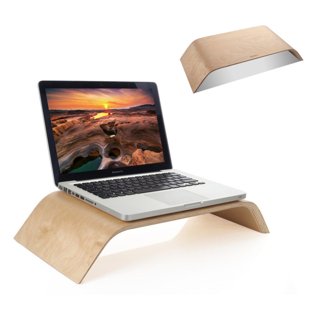 """New Arrival Fashion Design Laptop Holder wood Stand Professional Lapdesk holder For Macbook Air Pro 11"""" 13"""" 15 inch(China (Mainland))"""