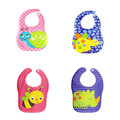 Cute Animal Baby Bibs Waterproof Cartoon Bee Bear Dinosaur Pattern Infant Burp Cloths Baby Boy Girl