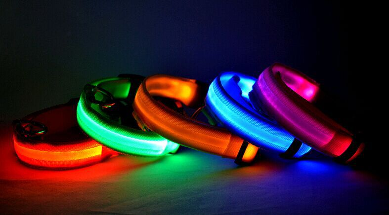 Wholesale pet led collar colorful waterproof led flashing pet dog collar in China(China (Mainland))