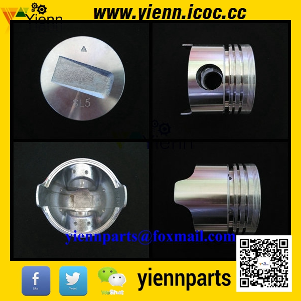 Mitsubishi S4L S4L2 piston 31A17-09100 with pin and clips for Peljob EB350 EB406 Mini Excavator S4L2 diesel engine repair parts(China (Mainland))