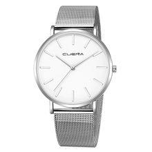 Nouveau noir genève montre en acier inoxydable bracelet hommes robe montre 2019 Sport haute qualité décontracté montre-bracelet cadeau pour la livraison directe(China)