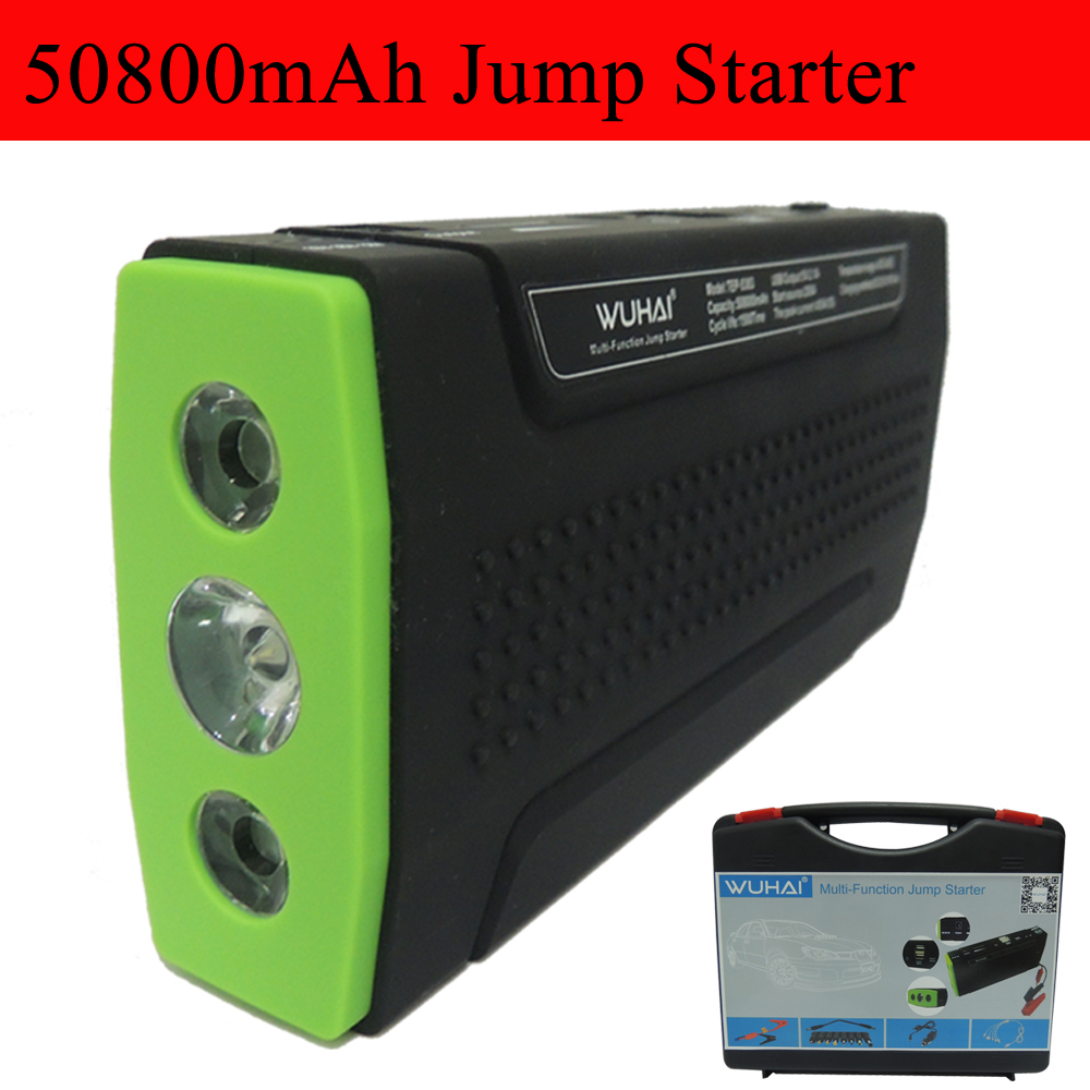 Super WUHAI 50800mAh Car jump starter auto vehicle engine booster eps start rechargeable battery power pack supply charger(China (Mainland))