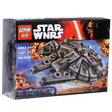 1 set Building Blocks Star Wars The Force Awakens Millennium Falcon Model Kits Rey BB-8 MiniFigures box Compatible with LEGO(China (Mainland))
