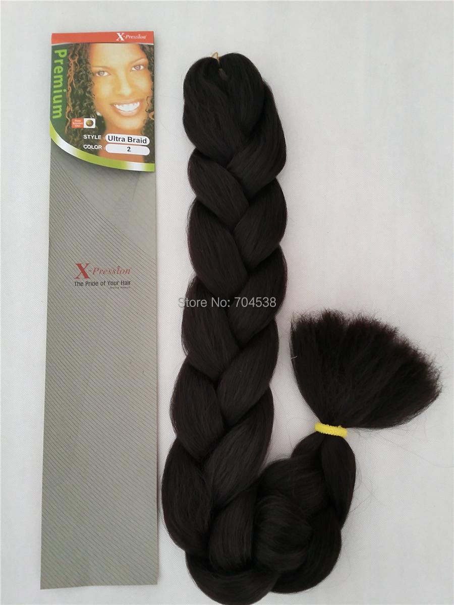 Xpression ultra braid hair wholesale 50pcs 1b 4 27 30 1b/27 1b/30 1b/350 free shipping to canada USA Europe(Hong Kong)
