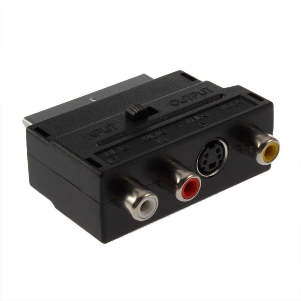 1pc High Quality RGB Scart to Composite RCA S-Video AV TV Audio Adapter<br><br>Aliexpress