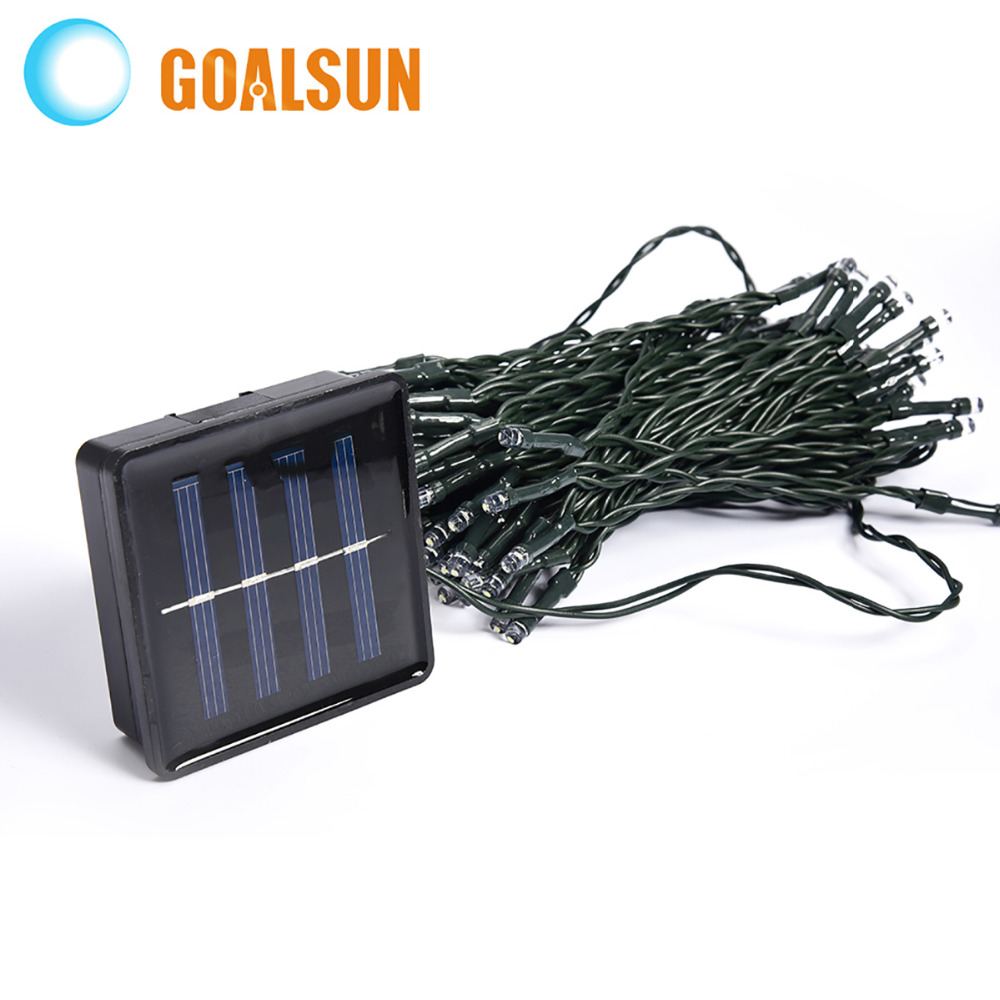 Solar Waterproof Christmas Lights 33ft 10m 50 LED Solar Fairy String Lights For Outdoor ...