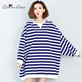 BelineRosa Plus Size Women s Hoodies Winter Autumn Striped Batwing Sleeve Space Cotton Hoodies for Women