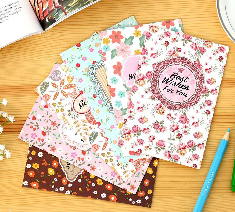 1Pcs Vintage Sweet Garden Floral Series Greeting Cards Set With Envelop DIY Deco Card Gift Office Supply Stationery H0551<br><br>Aliexpress