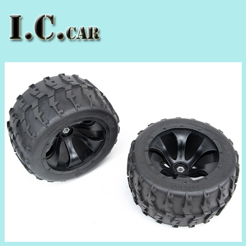 Monster Truck Baja Wheel Tires 2pc For 1/5 FG RC CARS Rovan Parts