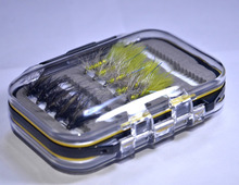Waterproof Pocketed Fly Box, 20pcs Dry Fly, Wet Fly, Nymph and Streamer Fly Fishing Lure(China (Mainland))