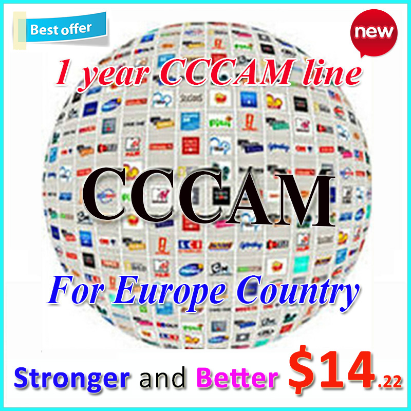 Cccam Europe Cline Server for 1 year Satellite Decoder Spain UK Germany France Italy with shipping by DHL China post(China (Mainland))