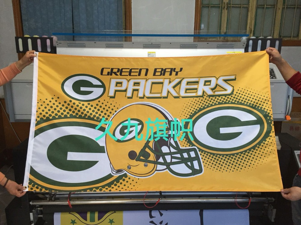 Green Bay Packers NFL football team flag Four American League pennants 100D polyester high quality free shipping(China (Mainland))