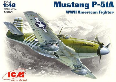 Out of print! Plastic model kit ICM 48161 Mustang P-51A WWII USAF fighter 1/48(China (Mainland))