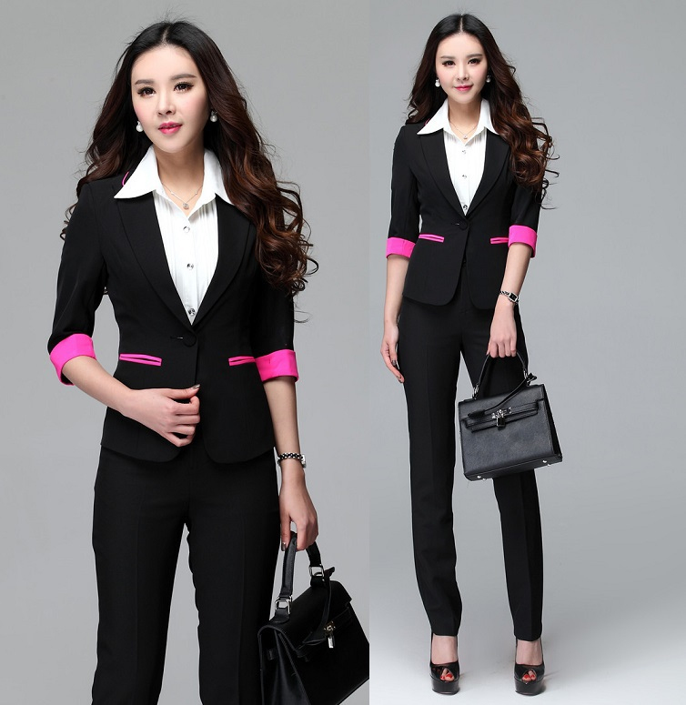 New formal uniform design 2015 summer female office suits for Office uniform design 2015