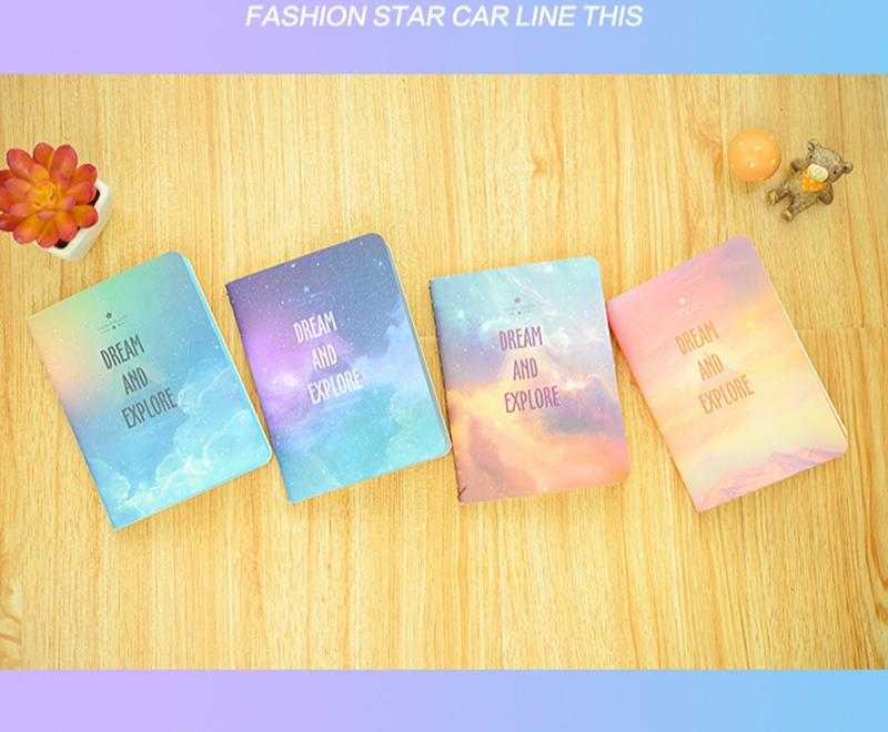 A6 Star Notebook Stationery Planner Agenda 2017 Sketchbook Material Escolar Diary Dokibook Kawaii School Supplies Journal Paper  -  Top-living Arts & Crafts Store store