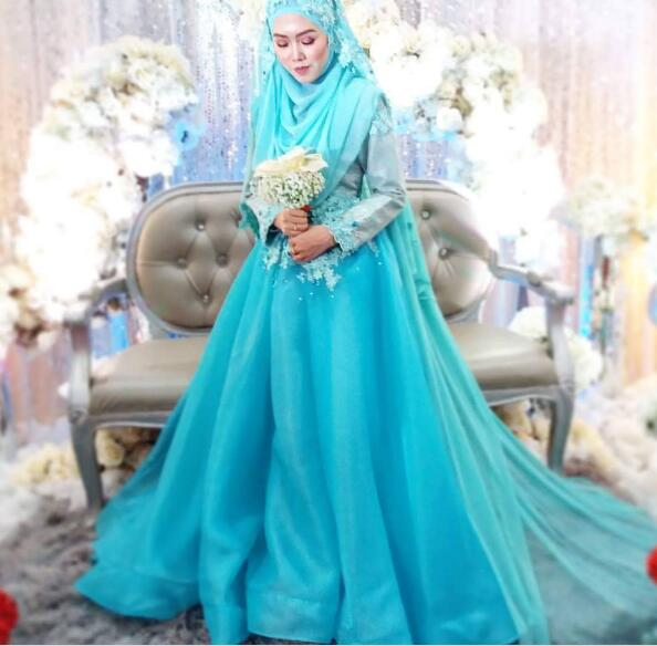 Muslim Wedding Dresses With Hijab. Best Wholesale Islamic Wedding ...