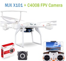 F15800-B Profession Drones MJX X101 Quadcopter 2.4g 6-axis Rc Helicopter Drone With Gimbal + MJX C4008 FPV HD Real Time Camera(China (Mainland))