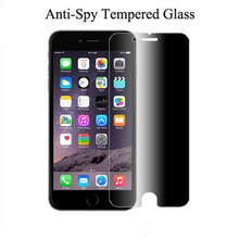 500pcs for apple iphone 6 plus 2.5D anti spy privacy tempered glass screen protector guard glass film for iphone 6 plus 5.5""