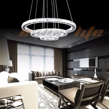 Enyourlife Modern Galaxy Crystal Chandelier Circles Pendant LED Light Ceiling Lamp Lighting Crystal chandeliers(China (Mainland))