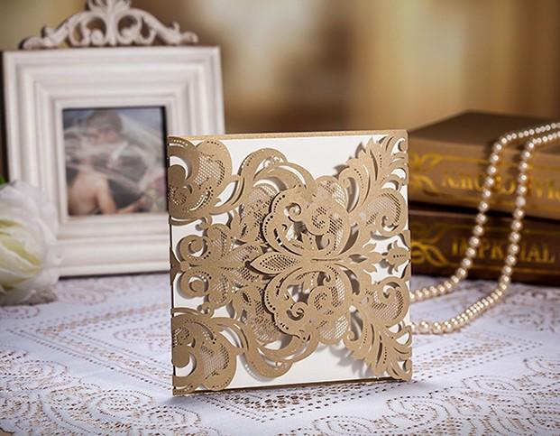 Unique Luxury Wedding Gifts : FreeShip Custom Wedding Invitation Card+Evelope+Label, Classic luxury ...