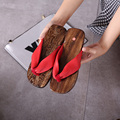 2016 Summer Crescent Shape Women Sandals Japanese Geta Candlenut Clogs For Female Cosplay Geta Flip Flops