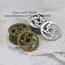 Buy Steampunk Gears Two Color Plated Vintage Metal Zinc Alloy Trendy Gear Charms Jewelry 20pcs 31mm 7896 for $4.07 in AliExpress store