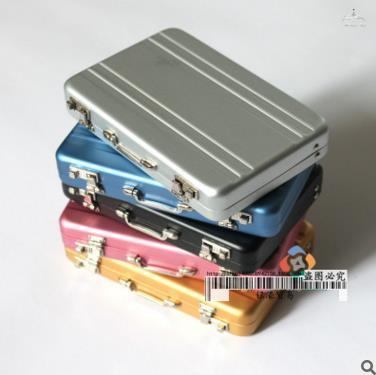 Creative Quality aluminium alloy Toy MyVault/ Secret Box/ Pass word Box looking mini name card holder(China (Mainland))