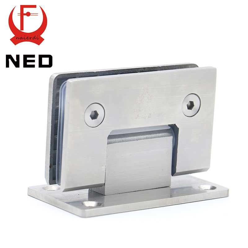 High Quality NED-4913 90 Degree Open 304 Stainless Steel Wall Mount Glass Shower Door Hinge For Home Bathroom Furniture Hardware(China (Mainland))