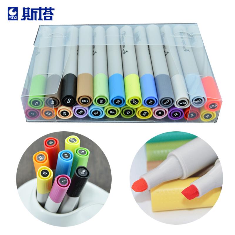 Art Supplies 12/24/36/60 Color Mark Pen Hand-Painted Cartoon Manga Copic Markers Art Graphic Design Marker Pen Sets Marcadores