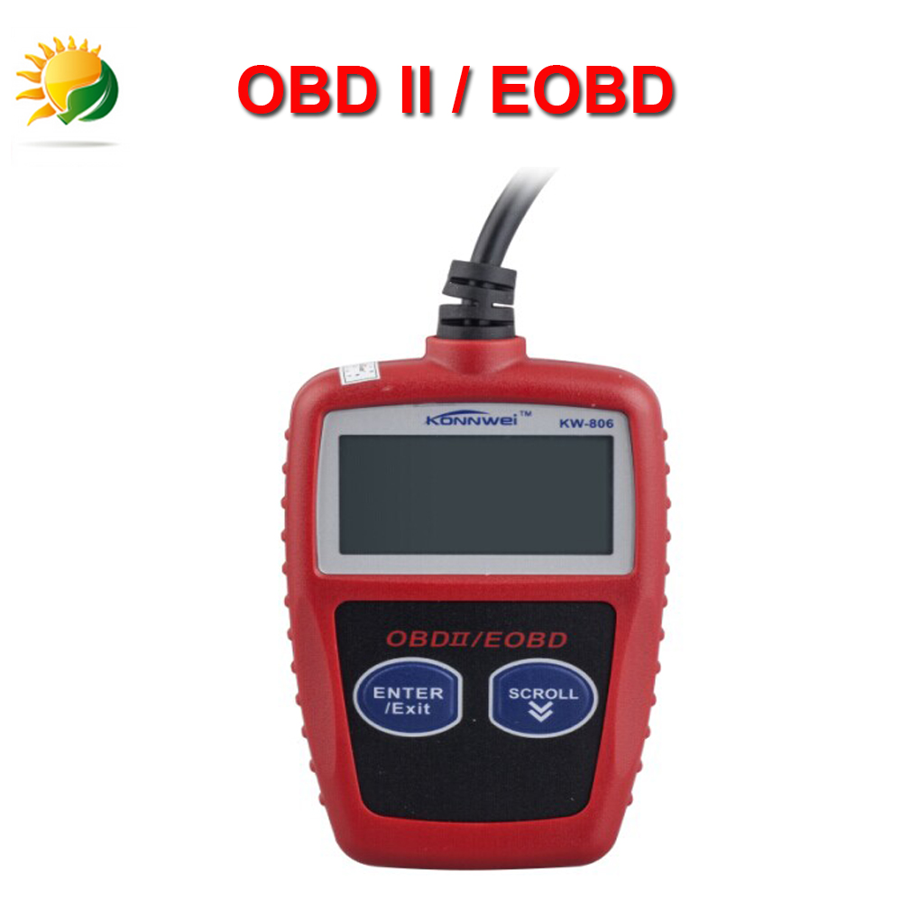 Hot Sale KONNWEI KW806 OBDII Code Reader Scanner obd2 Car Diagnostic Tool Diagnose Engine Code Reader Tester Can Free Shipping(China (Mainland))