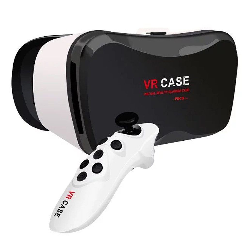 Virtual Reality Vr Case Headset Box 3d Glasses With Plus Remote Bluetooth Control For Iphone