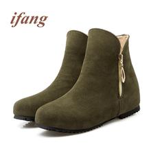 Ifang keep warm zip botines Mujeres Martin Botas de Invierno botas de nieve de Las Mujeres Zapatos Mujer Botas tobillo Botas de Mujer de las mujeres 34-52(China (Mainland))
