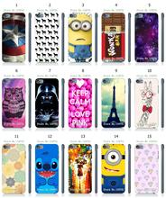 Mobile Phone Case Retail 1pc Stitch Minions Hybrid Design Protective White Hard Case Cover For ipod touch 5 5th Free Shipping