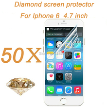 For Iphone 6 4.7 inch shinning diamond glitter screen protector film guard with retail package