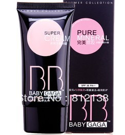 2013 New arrival Wholesale baby gaga super BB Cream SPF35 PA+++40ml, 3 colors for choise, 12pcs/lot, free shipping(China (Mainland))
