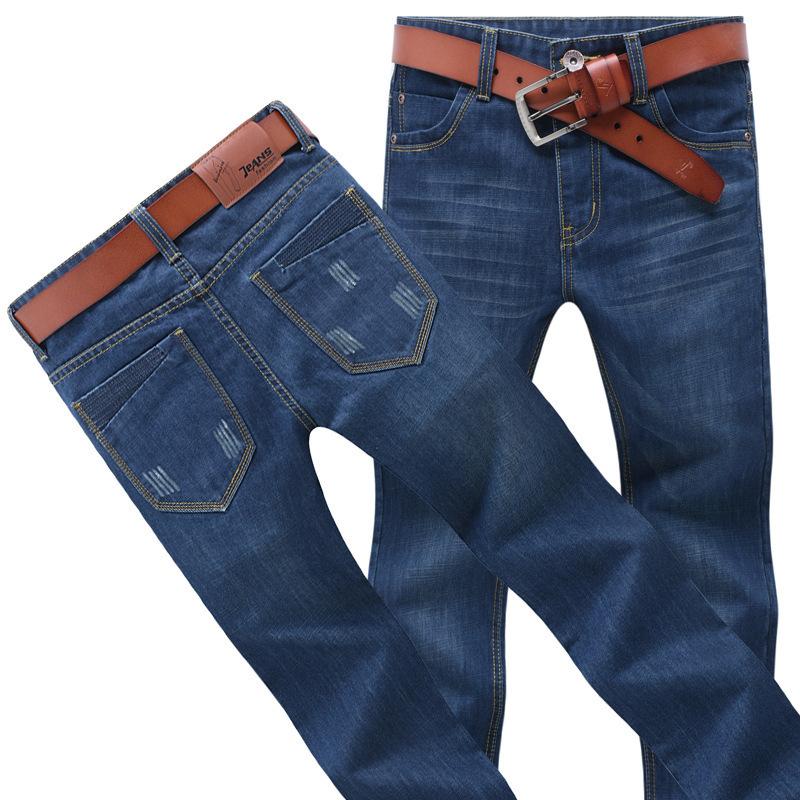 Men Fashion Brand Jeans Blue Male Casual Straight Denim Pant Men's High quality Jeans Slim denim Brand Jeans Full Length(China (Mainland))