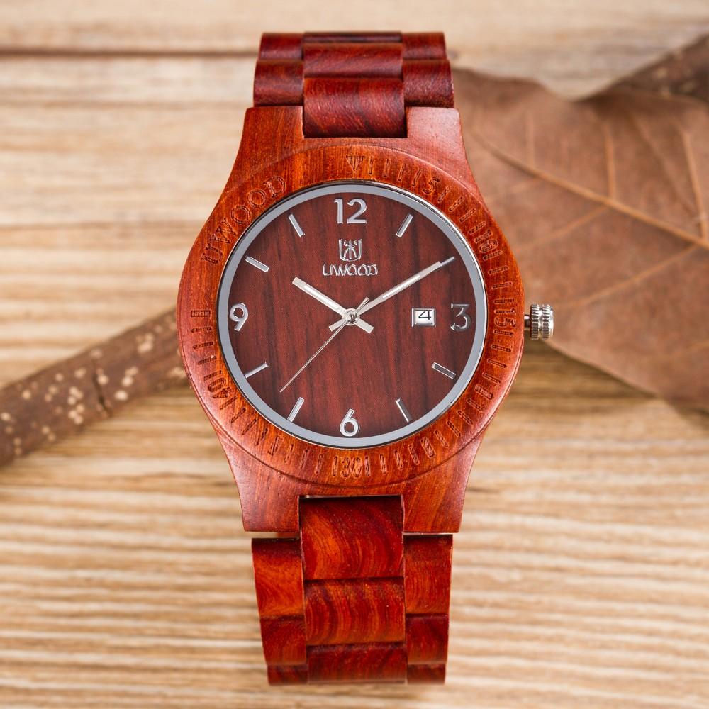 2016 Hot Marketing womens wooden watch wood  red sandal woods Women Bracelet Creative Wooden Watches Quartz Fashion Wrist Watch