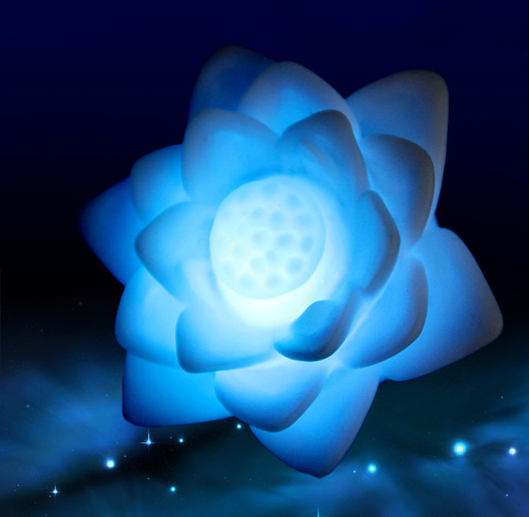 Changing Colors Lotus LED Night Light Decoration Romantic Gift Flower Lamp(China (Mainland))