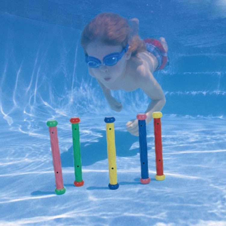 Summer Children Water Games Toys Kids Activity Diving Underwater Non-toxic Sticks Intex Brand Swimming Pool Toys Free Shipping(China (Mainland))