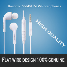 Free shipping Brand new 3.5mm Stereo Headset Headphone Earphone With Volume&Mic for Samsung Galaxy S2 S3 S4 S5 Note 2 3 4 xedain(China (Mainland))