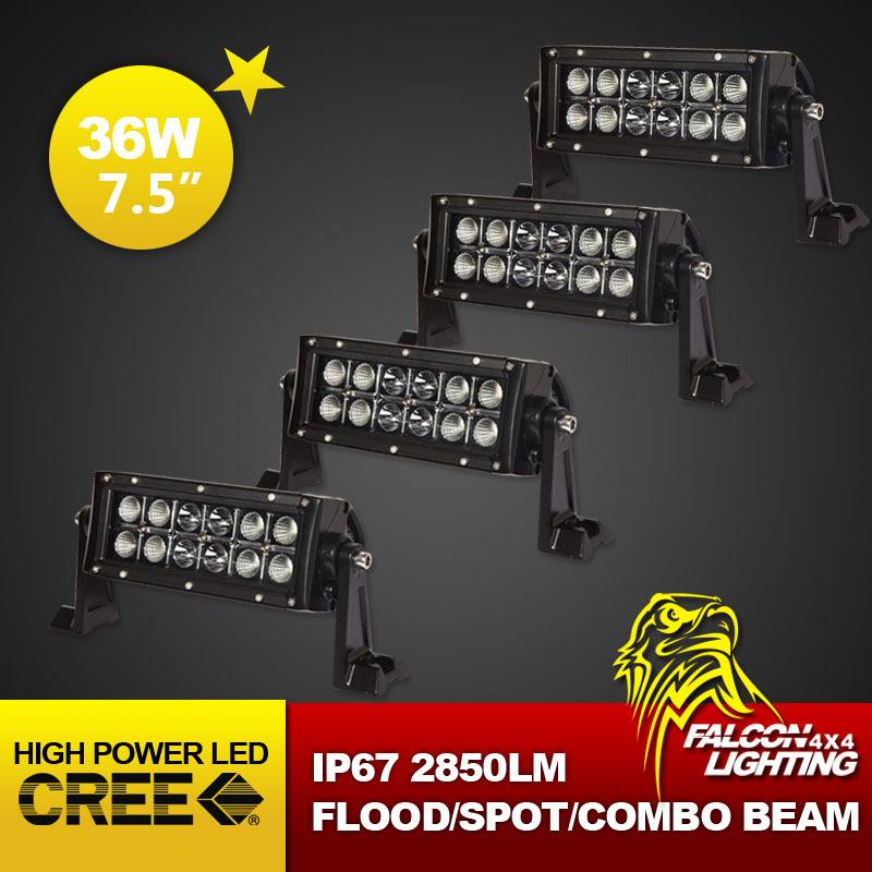 "Wholesale 4PCS/Lot 7.5"" 36W Cree Auto LED Lighting Bar,12V Crane LED Work Light Bar, Offroad 4WD LED Driving Light Fast Shipping(China (Mainland))"