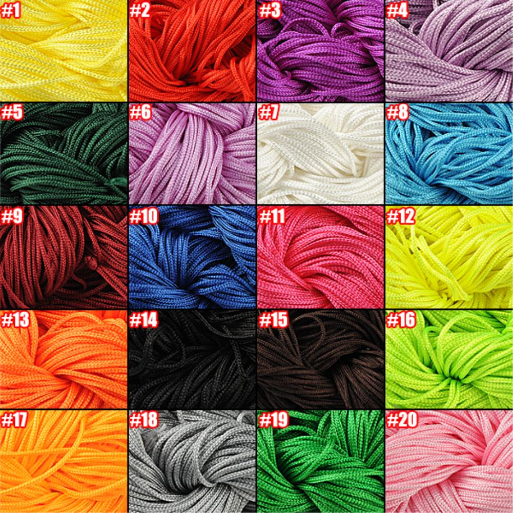 30MLength & 1mm Diamter Chinese Knot Macrame String Wire Cord Thread for DIY Necklace Bracelet Braided String(China (Mainland))
